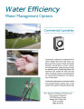 Water efficiency : water management options, Water efficiency fact sheet