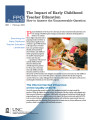 Impact of early childhood teacher education : how to answer the unanswerable question