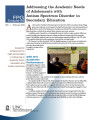 Addressing the academic needs of adolescents with autism spectrum disorder in secondary education