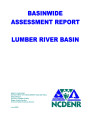 Basinwide assessment report : Lumber River Basin