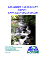 Basinwide assessment report : Savannah River Basin