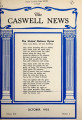 Caswell news [October 1953]