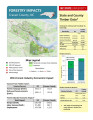Forestry impacts : Craven County, NC, state and county data [2014], Forestry contributions