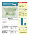 Forestry impacts : Gaston County, NC, state and county data [2014], Forestry contributions
