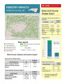 Forestry impacts : Guilford County, NC, state and county data [2014], Forestry contributions
