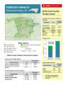 Forestry impacts : Richmond County, NC, state and county data [2014], Forestry contributions