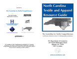 North Carolina textile and apparel resource guide.