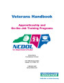 Veterans handbook apprenticeship and on-the-job training programs