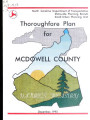 McDowell County thoroughfare plan, including Old Fort and Marion