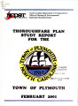 Thoroughfare plan study report for the town of Plymouth