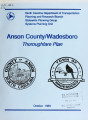 Anson County/Wadesboro thoroughfare plan report