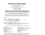 US 64 improvements project from 0.9 mile east of Columbia to US 264 near Manns Harbor, Tyrrell and...