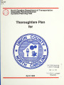 Thoroughfare plan for Union County, North Carolina