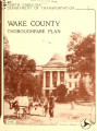 Thoroughfare plan for Wake County, North Carolina