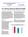 N.C. African American maternal health : 2006-2008 N.C. Pregnancy Risk Assessment Monitoring System...