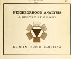 Neighborhood analysis, a survey of blight, Clinton, North Carolina