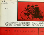 Community facilities plan and public improvements program, Star, North Carolina