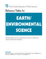 Reference tables for Earth/environmental science : selected equations, formulas, physical data to...