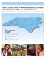 North Carolina Work First Demonstration Grant study : promising strategies to obtain and retain...