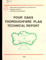 Four Oaks thoroughfare plan technical report