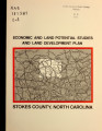 Economic and land potential studies and land development plan, Stokes County, North Carolina