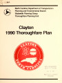 1990 thoroughfare plan for the town of Clayton