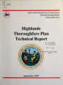 Thoroughfare plan report for Highlands, North Carolina