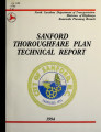 Sanford thoroughfare plan technical report