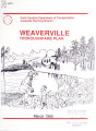 Thoroughfare plan for the town of Weaverville, North Carolina