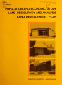 Population and economic study, land use survey and analysis, land development plan, Maiden, North...