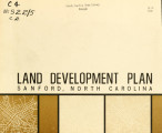 Land development plan, Sanford, North Carolina