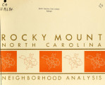 Neighborhood analysis, Rocky Mount, North Carolina