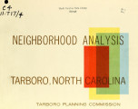 Neighborhood analysis, Tarboro, North Carolina
