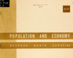 Population and economy, Roxboro, North Carolina