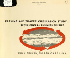 Parking and traffic circulation study of the central business district, Rockingham, North Carolina