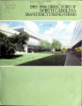 Directory of North Carolina manufacturing firms [1986]