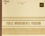 Public improvements program, 1963-1983, Wilson, North Carolina