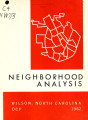 Neighborhood analysis, Wilson, North Carolina