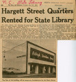 Hargett Street Quarters Rented For State Library
