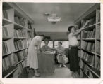 Caldwell County Library bookmobile (interior)