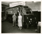 May Memorial Library bookmobile at the Gerstenslager Co. bookmobile manufacturers booth