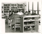Thomasville Public Library reference department full of seated high school students