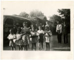 Gaston County Public Library bookmobile. Negro book station