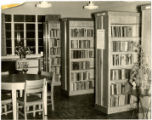 Harnett County Library, interior view of stacks and table