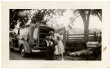 WPA bookmobile demonstration. Tyrrell County