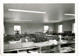 Scotland County Memorial Library, McGint's Bridge Road Branch, interior view looking over...