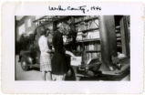 Wake County bookmobile and girls