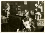 Patrons using the library in Alexander County