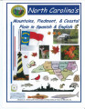 North Carolina's mountains, piedmont, & coastal plain in Spanish & English