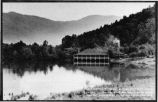 Postcard of View across Lake Eden to the Dining Hall